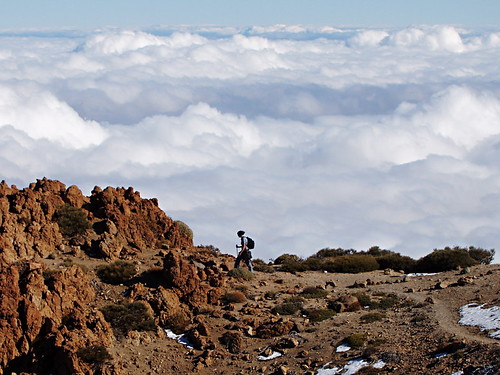 Walking above the clouds in Teide National Park