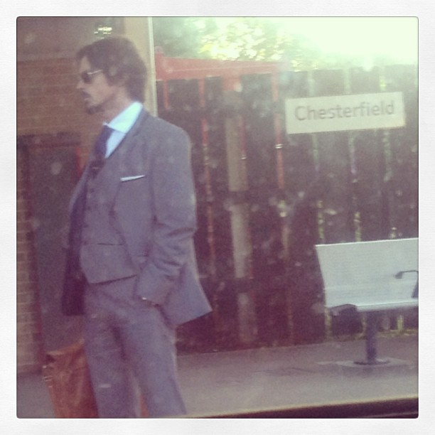 Sorry Johny Depp lookalike waiting minding your own business on a platform. You were too pretty to let go