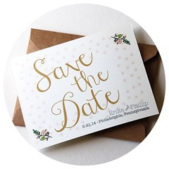 Polka Dots Save the Date