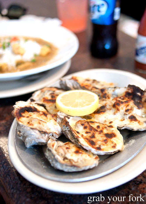 oysters bienville at felix's restaurant and oyster bar new orleans louisiana
