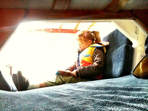 James & the Giant Peach in the back cabin.