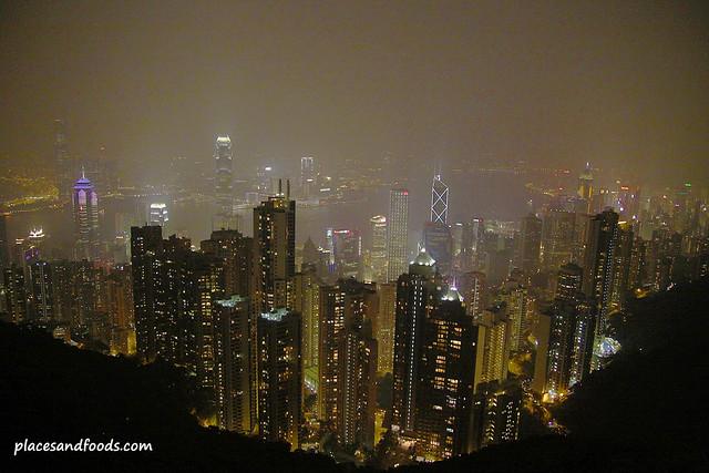 the peak hong kong night view