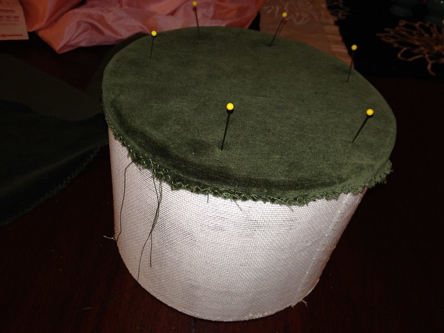 Sew top piece to crown