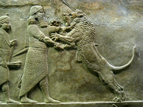 Assyrian wall sculpture
