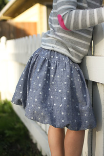 polka dot frothy skirt