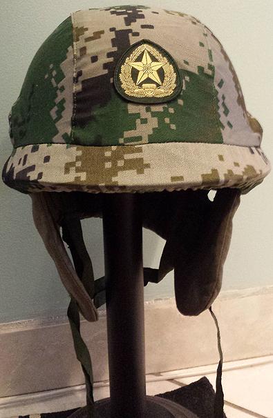 PLA GK82 Airborne Helmet with Type 07 Camo Cover 10237230645_5f79a80717_o