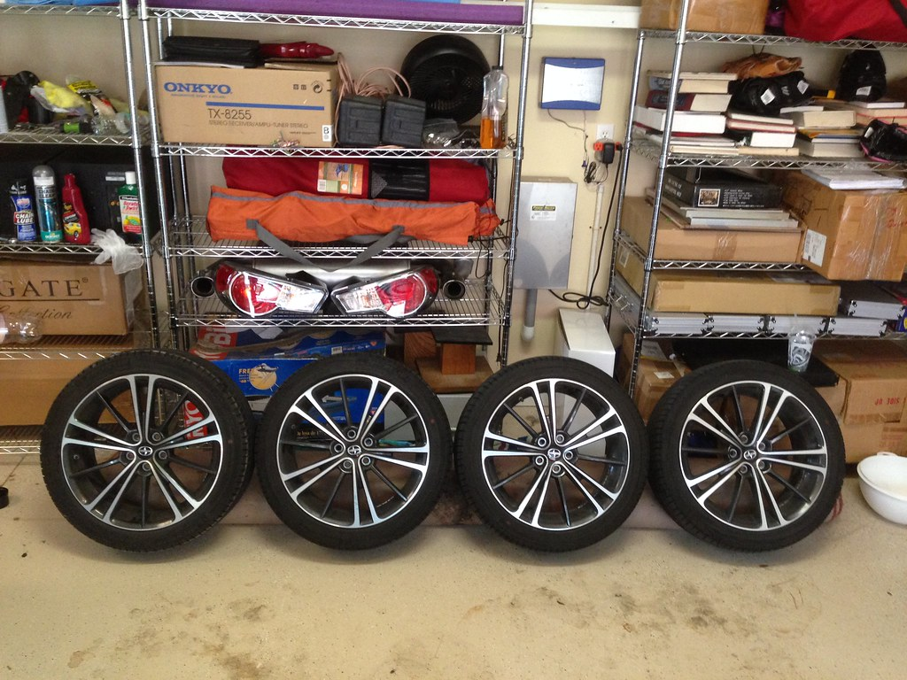 FS: OEM FRS Wheels + Tires 10428273523_894453bd6c_b