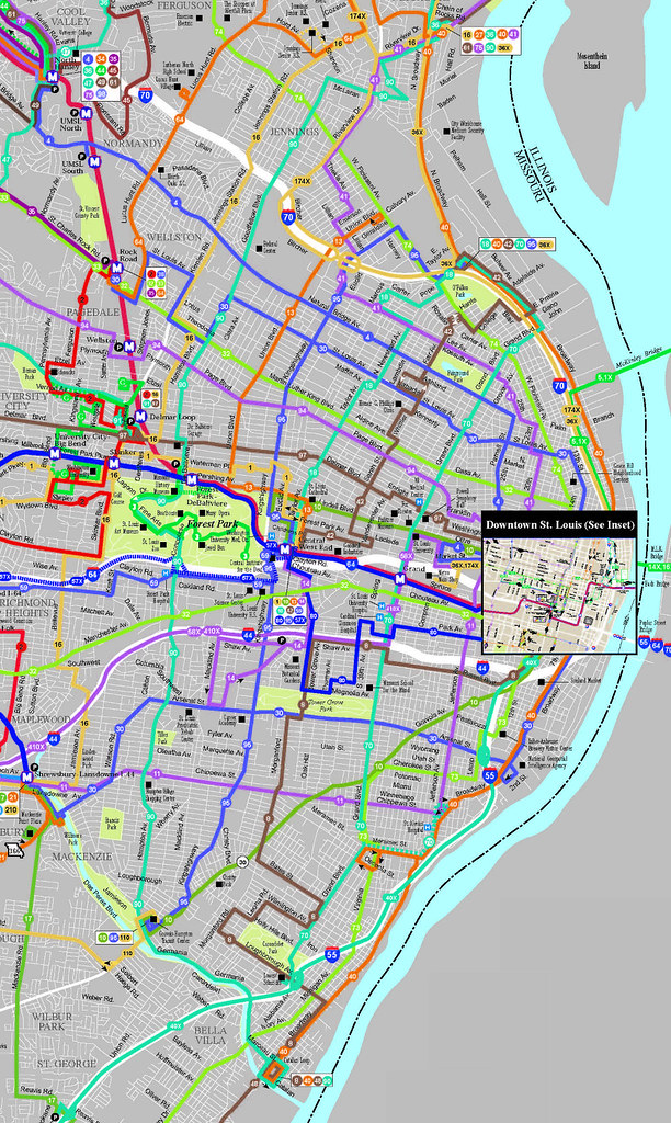 STL City bus map