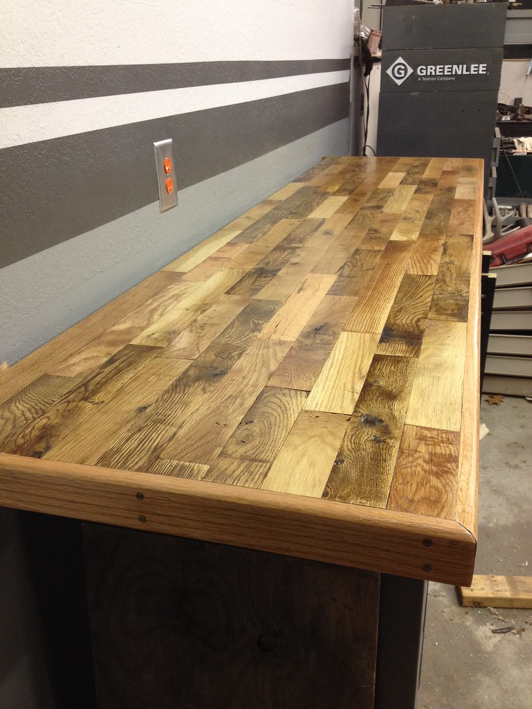 anyone used hardwood flooring for benchtop? - the garage journal board