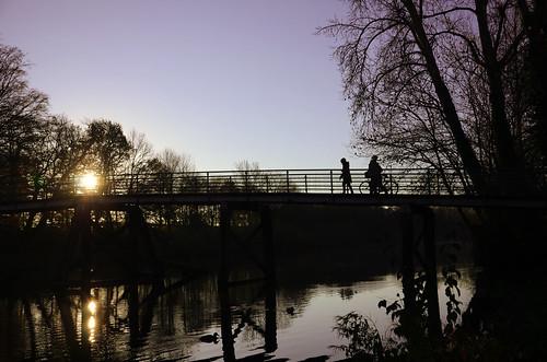 sunrise herbst silhouettes brücke lübeck sonnenaufgang wielandbrücke creativemindsphotography