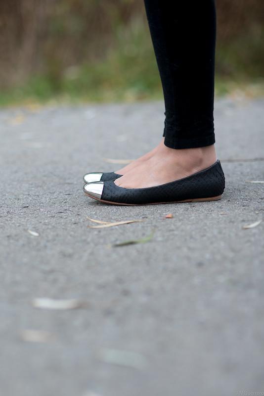 zigi girl cap toe flats, metal cap toe flats