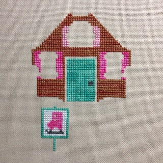 I need more Weeks Dye Works!!! For reals!!! Also, this #gingerbreadlane sampler by #frostedpumpkinstitchery is so adorable!! #weeksdyeworks #WDW #crossstitch #dmc
