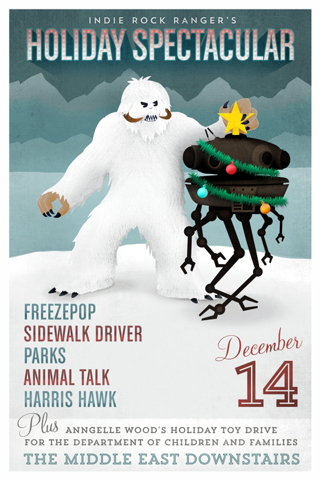 Indie Rock Ranger Holiday Spectacular: Freezepop, Sidewalk Driver, Parks, Animal Talk, Harris Hawk | 14 Dec. | Middle East