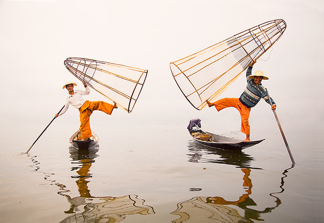 Floating Grace.  Inle Lake