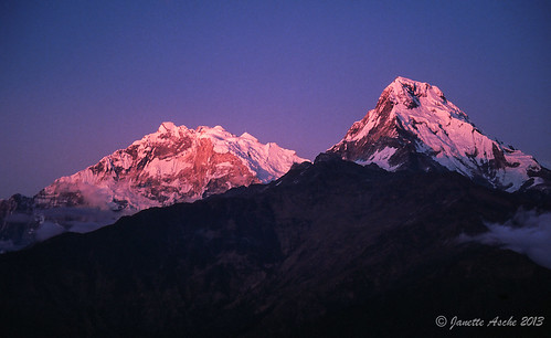 travel nepal sunset mountains film trekking asia hiking 1988 slide fujifilm pokhara annapurna himalayas scannedslide poonhill ghorepani 35mmslidefilm kaski westernregion ghodepani