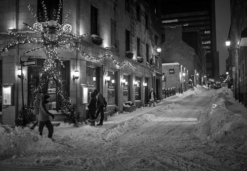 Street scene in Montreal Canada.