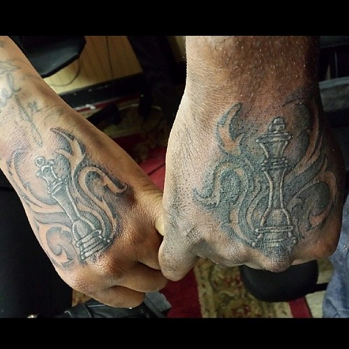 King And Queen Chess Piece Tattoo