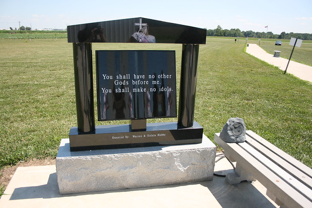 Ten Commandment tablets at the Cross at the Crossroads - The World's Largest Cross in Effingham, Illinois