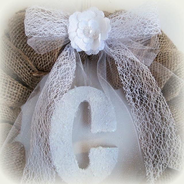 Winter Burlap Wreath - Designs By Dawn Rene CU