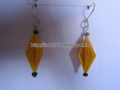 Handmade Jewelry - Origami Paper Diamond Earrings (21) by fah2305