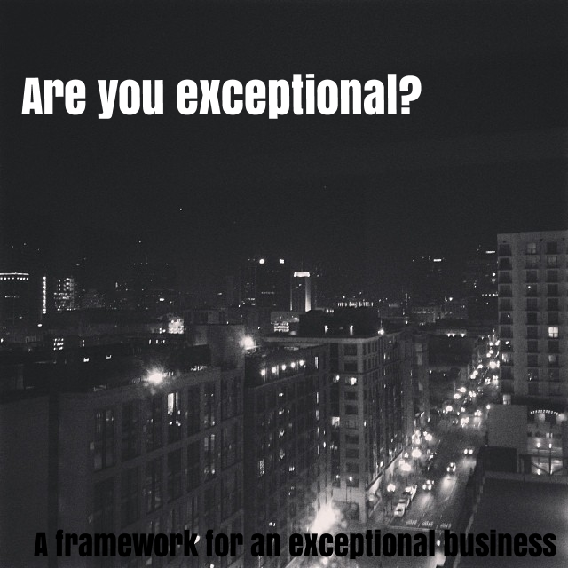 Are you exceptional?