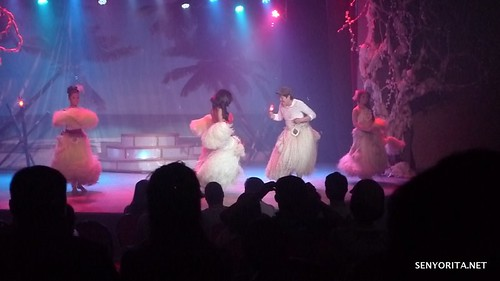 Korean guest gamely danced with one of the performers