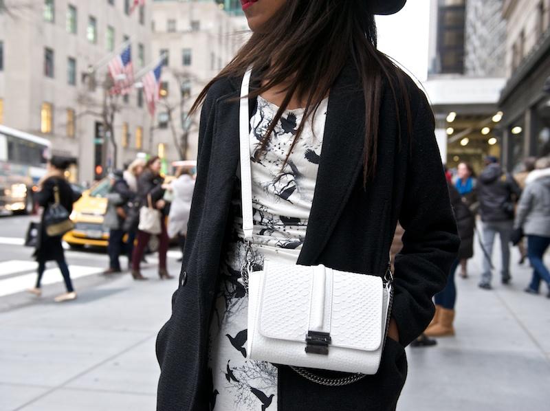 black wool cocoon coat