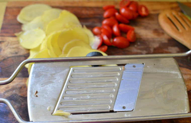 Vegetable and Pancetta Quiche with Potato Crust via LittleFerraroKitchen.com