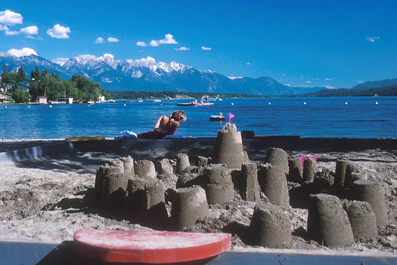Invermere on Windermere Lake, Columbia River Valley, BC Rockies, British Columbia, Canada