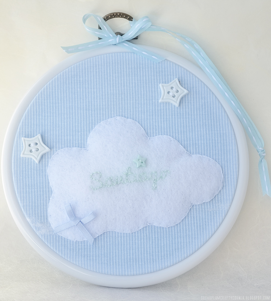 Starry Night Embroidery Hoop Frame