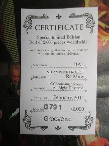 Dal Ra Muw Certificate
