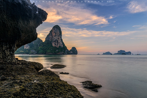 travel seascape nature sunrise thailand krabi