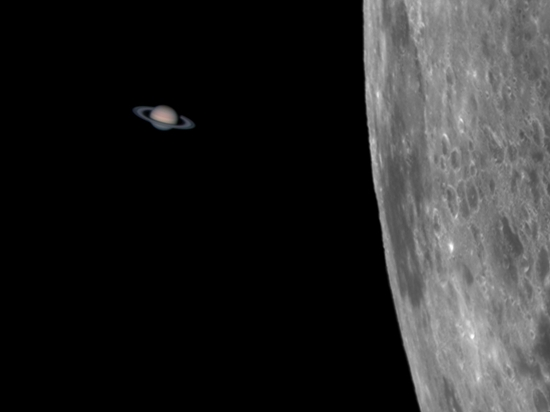 GALERI: Okultasi Saturnus, Saat Bulan Menggerhanai Planet Cincin