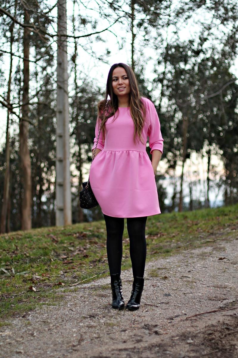 vestido chicle