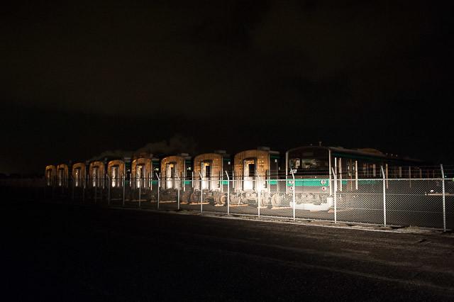 深夜の新潟東港