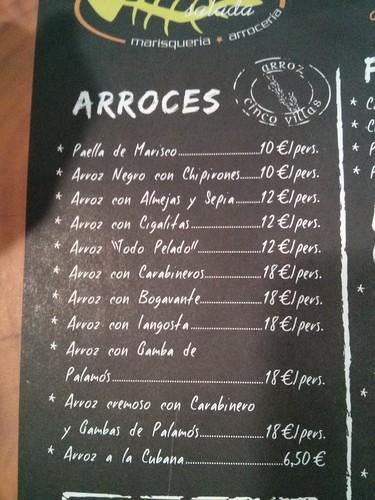 Zaragoza | La mar salada | Precios