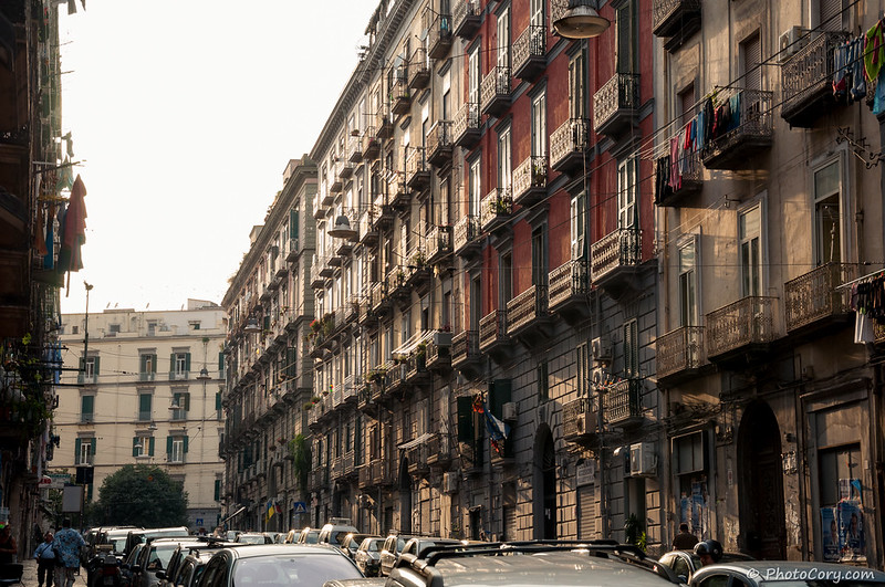Naples Buildings with balconies