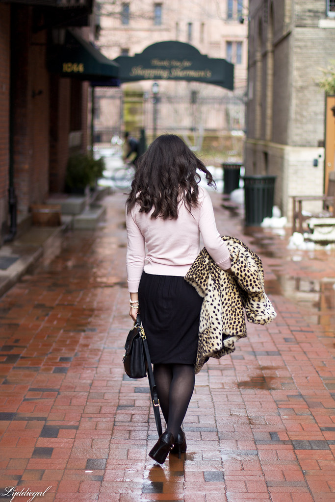 black tulip skirt, pastel pink sweater, leopard coat-2.jpg