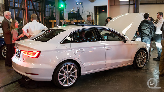 Glacier White Audi A3 at Sunset's Event