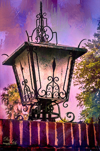 Image of a large lantern at Stetson Univesity