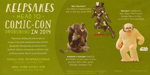Hallmark ComicCon Exclusives 2014