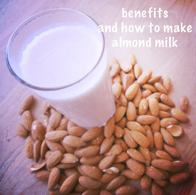 Health benefits and how to make homemade almond milk