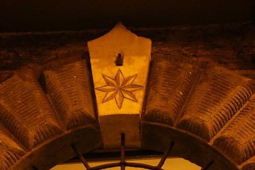 Borgo Pio: particolare di portone