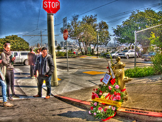 "People Still Honor the ""Little Giant"" fire hydrant that saved SF in 1906, HDR"