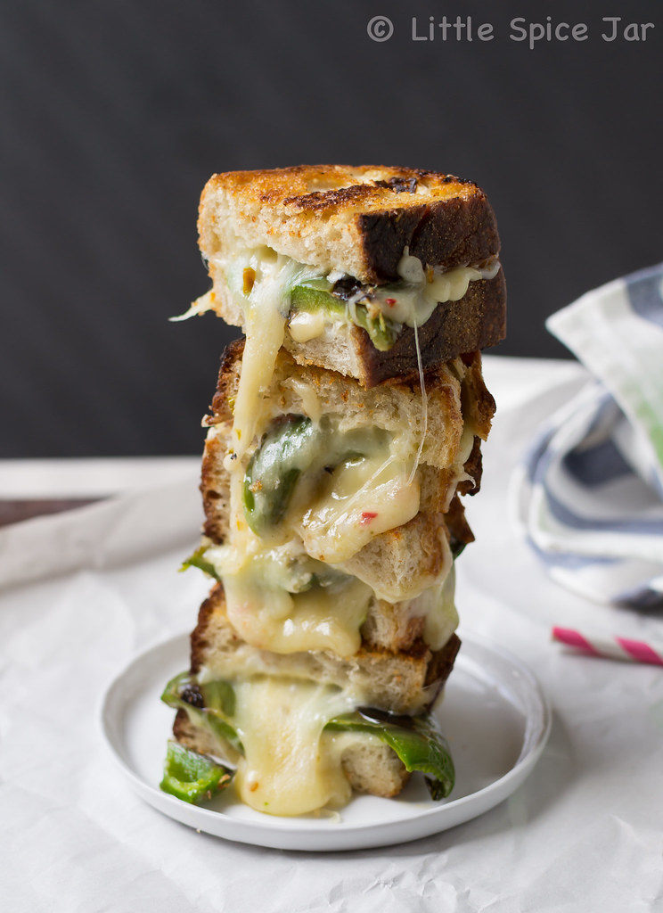 GARLIC AND JALAPENO PEPPER JACK GRILLED CHEESE
