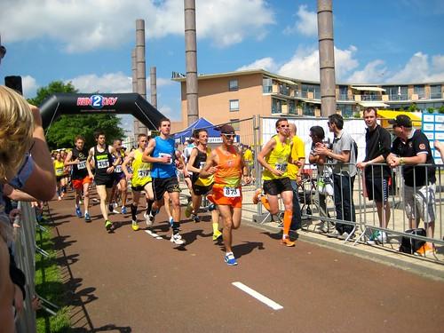 Start van de 10 km wedstrijd