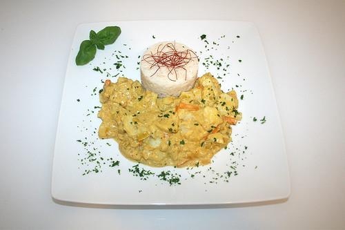 49 - Fisch-Ananas-Curry in Kokosmilch - Serviert / Fish pineapple curry in coconut milk - Served