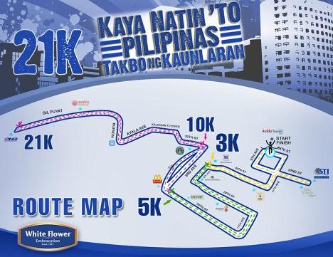 White Flower Run map 21k