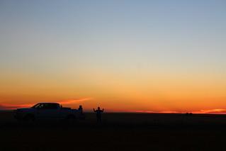 Sunset chit-chats.