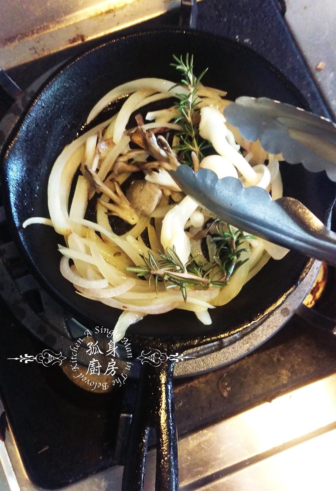 孤身廚房-清冰箱簡單早午餐!培根野菇櫛瓜義式烘蛋Frittata9
